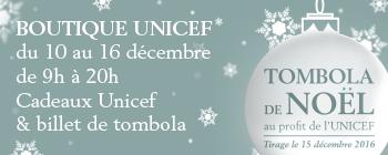 Tombola de Noël avec l'UNICEF