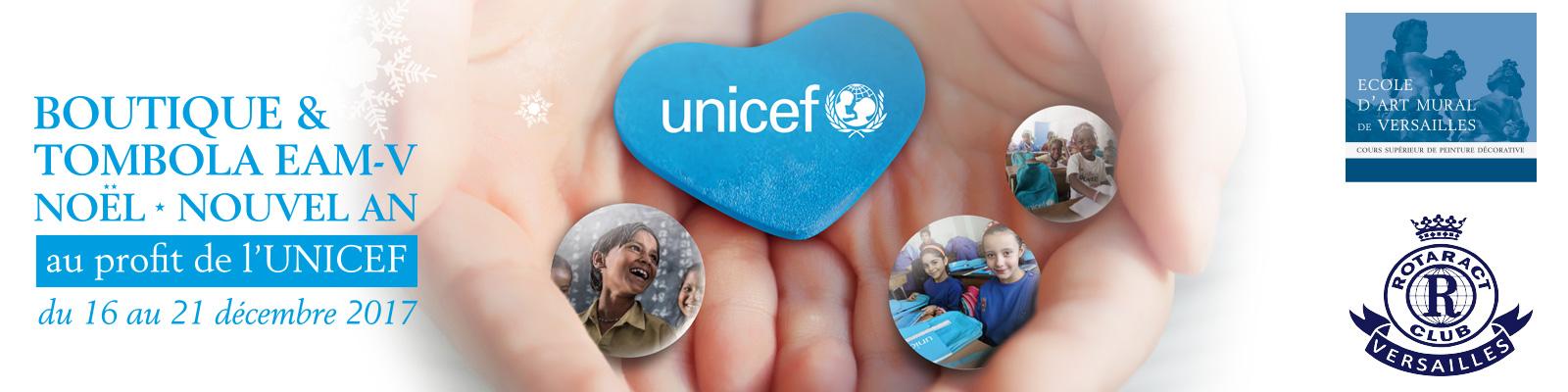 Tombola de Noël de l'EAM pour l'UNICEF